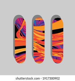 Skateboard sports icons dynamic cartoon