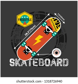 SKATEBOARD typography design,vector illustration