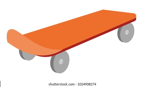 Skateboard vector cartoon illustration isolated on white background.
