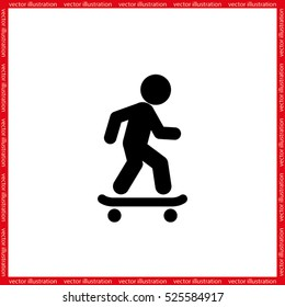 Skateboarder icon vector illustration eps10.