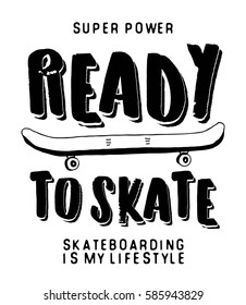 Skateboarder illustration vector.