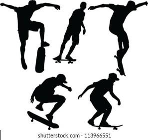 skateboarder - vector