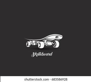 Skateboarding, Hand sketched skateboards vector illustration.