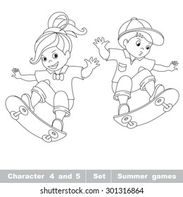 Skateboard Coloring Book Images Stock Photos Vectors Shutterstock