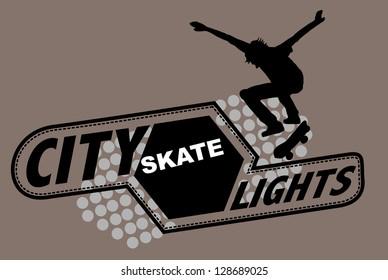 skateboarding vector art