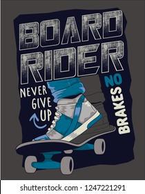 Skateboarding vector design gor t shirt