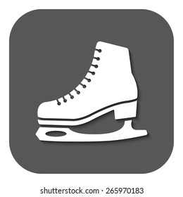 The skates icon. Figure skates symbol. Flat Vector illustration. Button