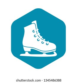 Skates icon in simple style isolated vector illustration