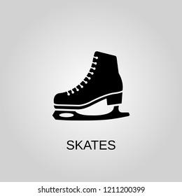 Skates icon. Skates symbol. Flat design. Stock - Vector illustration