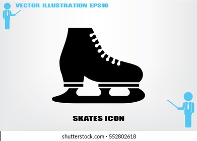 Skates icon vector illustration eps10. Isolated badge for website or app - stock infographics