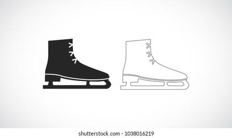 skates outline icon