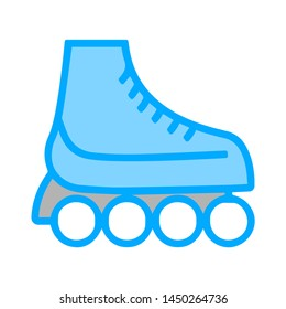 skating shoes, Vector isolated illustration