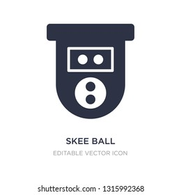 skee ball icon on white background. Simple element illustration from Entertainment concept. skee ball icon symbol design.