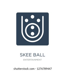 skee ball icon vector on white background, skee ball trendy filled icons from Entertainment collection, skee ball vector illustration