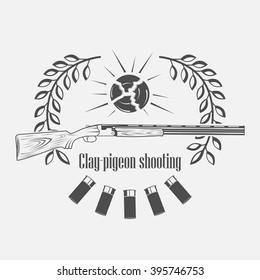 skeet, vintage clay target and gun club labels