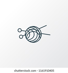 Skein of yarn icon line symbol. Premium quality isolated wool element in trendy style.