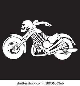 Skeleton bike in vector isolated on white background
