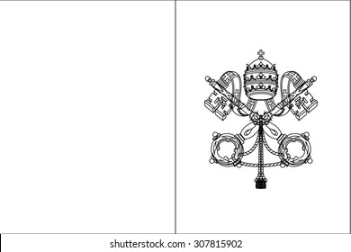 A Skeleton Flag Illustration of the country of  Vatican