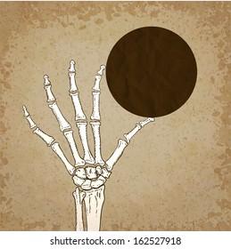 Skeleton hand. Vector illustration, eps10.