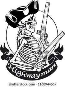 Skeleton highwayman with pistols