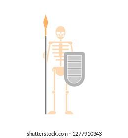 skeleton icon - skeleton isolated , halloween bones illustration- Vector anatomy
