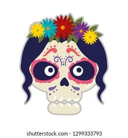 skeleton of katrina head character
