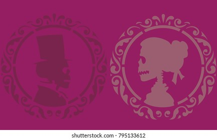 Skeleton love stencils