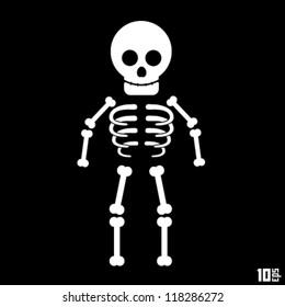 skeleton on a black background