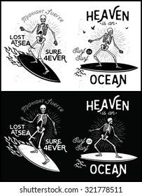 Skeleton Surfer vector art