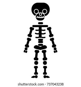 skeletone icon, vector illustration, black sign on isolated background