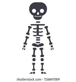 skeletone vector line icon, sign, illustration on background, editable strokes