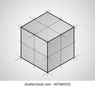 Sketch of 3D cube