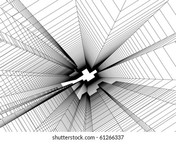 sketch of abstract architecture