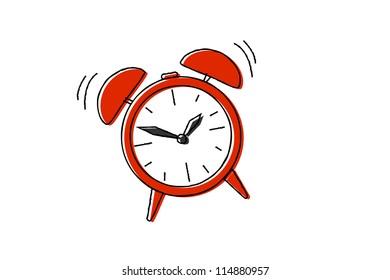 sketch of the alarm clock