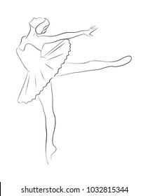 Sketch of ballerina.