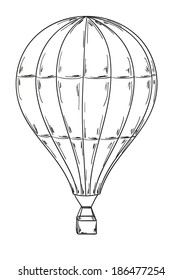 sketch of the balloon on white background