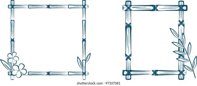 Sketch Bamboo frames