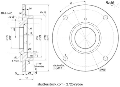 Engineering Drawing Images, Stock Photos & Vectors