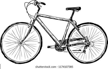 Sketch of a bicycle for active strolls