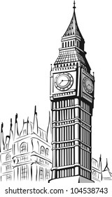 Sketch of Big Ben London