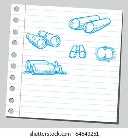 Sketch of a binoculars