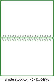 Sketch book Ring note frame illustration vector