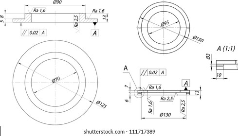 Mechanical Engineer Drawing Images Stock Photos Vectors