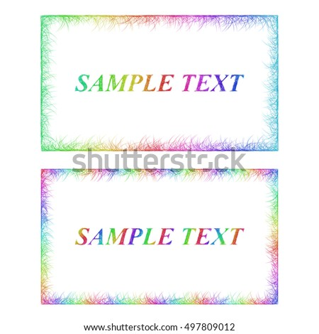 Sketch business card border templates happy stock vector royalty sketch business card border templates in happy rainbow colors flashek Choice Image