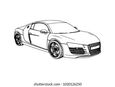sketch car vector