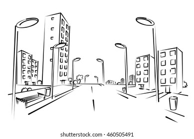 city sketch images stock photos vectors shutterstock