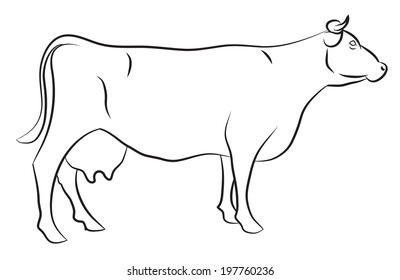 Cow Outline Images, Stock Photos & Vectors | Shutterstock