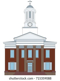 Sketch of the Cumberland County Courthouse in Carlisle, Pennsylvania