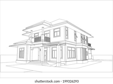 house sketch images stock photos vectors shutterstock rh shutterstock com design house sketchup house sketch design front view