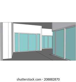 sketch design of interior ,vector